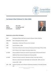CV Peter Zoller - Leopoldina
