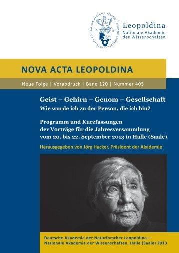 Programm - Leopoldina