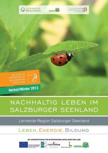 nachhaltig leBen im SalzBurger Seenland - Regionalverband ...