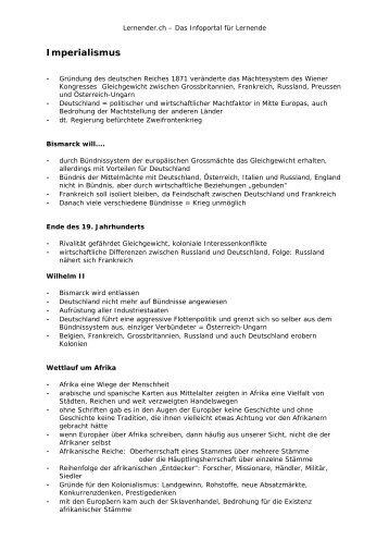 Imperialismus - Lernender.ch