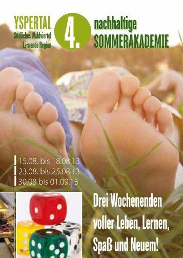 Programm 4. Nachhaltige Sommerakademie Yspertal - Lernende ...