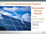 LES Renewable Energy Program residential survey results (Oct. 18 ...