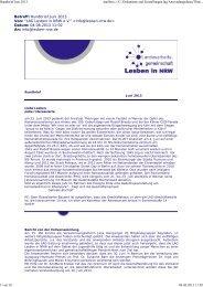 Rundbrief Juni 2013 - LAG Lesben in NRW