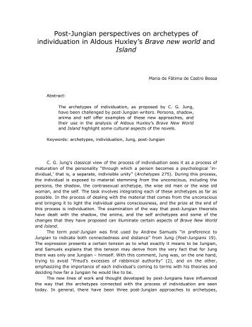 Post-Jungian perspectives on archetypes of individuation in Aldous ...