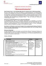 Biomasseheizwerke - LandesEnergieVerein Steiermark