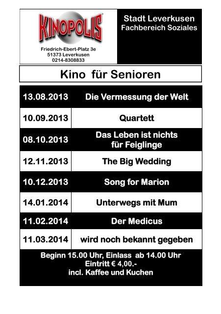 Download: Seniorenkinoprogramm 2013 - Stadt Leverkusen
