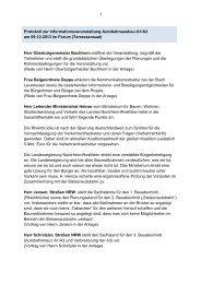 Protokoll zur Infoveranstaltung - Stadt Leverkusen