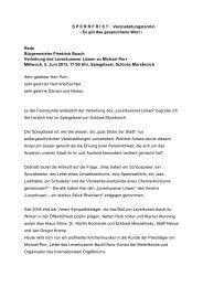 Rede von Bürgermeister Friedrich Busch - Stadt Leverkusen