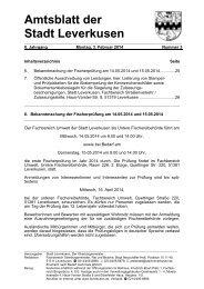 Amtsblatt Nr. 3 vom 3. Februar 2014 - Stadt Leverkusen