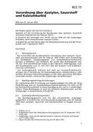 822.15 Verordnung über Azetylen, Sauerstoff und ... - LexFind