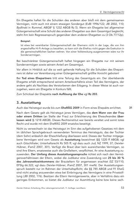 Scheidung, Ehe und Lebensgemeinschaft - LexisNexis ARD Orac