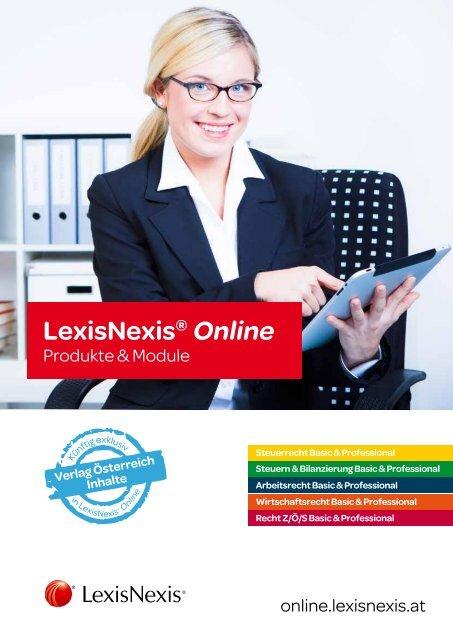 LexisNexis® Online Modulübersicht für den Steuerbereich