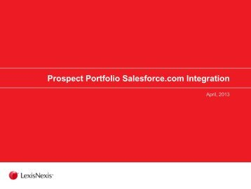 Prospect Portfolio Salesforce.com Integration - LexisNexis