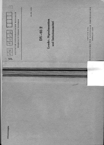 DV 61-2 Leucht-, Signalmunition und Imitationsmittel