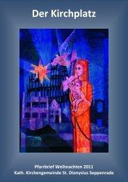 Pfarrbrief St. Dionysius Seppenrade Weihnachten 2011