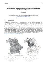 Anbausituation kleinkörniger Leguminosen in Grünland und ...