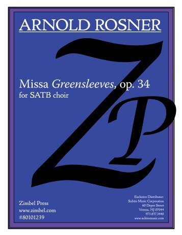Rosner - Missa Greensleeves, op. 34