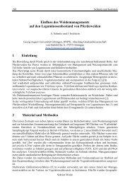Einfluss des Weidemanagements auf den Leguminosenbestand von ...