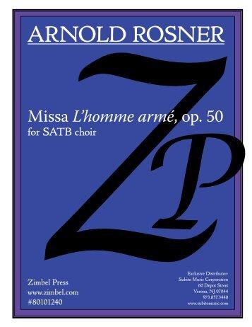 Rosner - Missa L'homme armé, op. 50