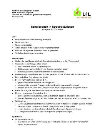 Schulbesuch in Streuobstwiesen - Anregung für Führungen 114 KB