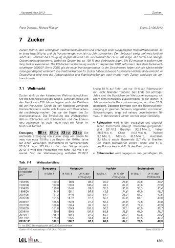 """Teilauszug Kapitel """"Zucker"""" - Bayerische Landesanstalt für ..."""