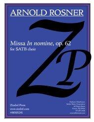 Rosner - Missa In nomine, op. 62