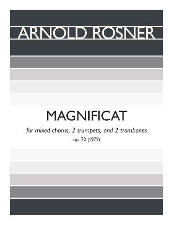 Rosner - Magnificat, op. 72