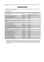Anlage - Verzeichnis der Pauschalsätze 2013