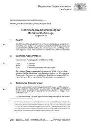 Technische Baubeschreibung MZF - LFV Bayern