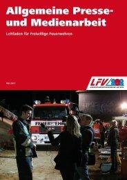 Allgemeine Presse- und Medienarbeit in der Feuerwehr - LFV Bayern