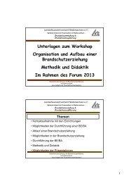 Unterlagen zum Workshop Organisation und Aufbau einer ...