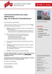 Für Verdienste im Feuerlöschwesen - Landesfeuerwehrverband ...
