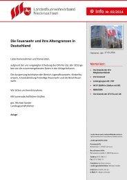 Die Feuerwehr und Ihre Altersgrenzen in Deutschland