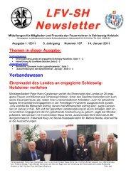 Ausgabe 1 / 2011 - Landesfeuerwehrverband Schleswig-Holstein