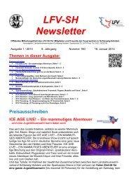 LFV-SH Newsletter - Landesfeuerwehrverband Schleswig-Holstein