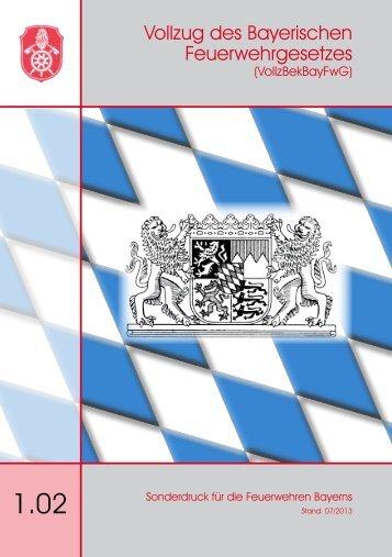 Vollzug des Bayerischen Feuerwehrgesetzes