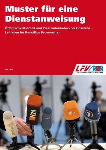 Muster für eine Dienstanweisung - Landesfeuerwehrverband Bayern