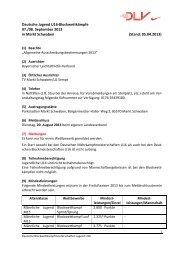 Deutsche Jugend U16-Blockwettkämpfe 07./08. September 2013 in ...