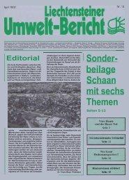 Umweltbericht Nr. 10 vom April 1982 - Liechtensteinische ...