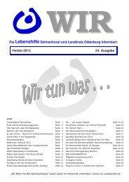 Ausgabe Herbst 2013 - Lebenshilfe Delmenhorst