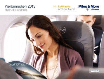 Werbemedien 2013 - Lufthansa Media Lounge: Home