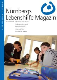 Lebenshilfe Magazin - Lebenshilfe Nürnberg