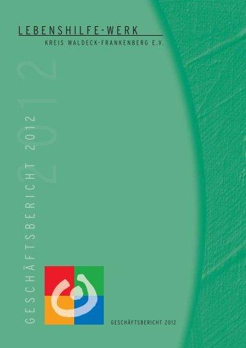 Geschäftsbericht 2012 - Lebenshilfe-Werk Kreis Waldeck ...