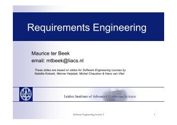 Requirements Engineering - Liacs