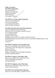 Table of Contents: SECTION I Headaches ... - Libreria Universo