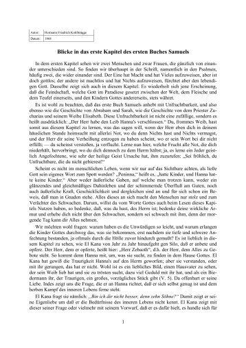 Blicke in das erste Kapitel des ersten Buches ... - Licht und Recht