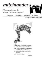 Pfarrnachrichten miteinander Nr. 19 - Jahr 2009 - Katholische ...