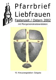 Fasten- und Osterpfarrbrief 2004 - Katholische Pfarrgemeinde ...