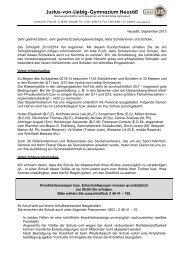 1. Elternbrief 2013/14 - Justus von Liebig Gymnasium Neusäss