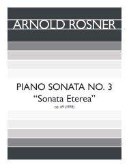Rosner - Piano Sonata, No. 3,